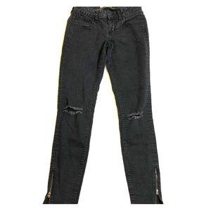Old Navy black skinny distress black jeans size 4